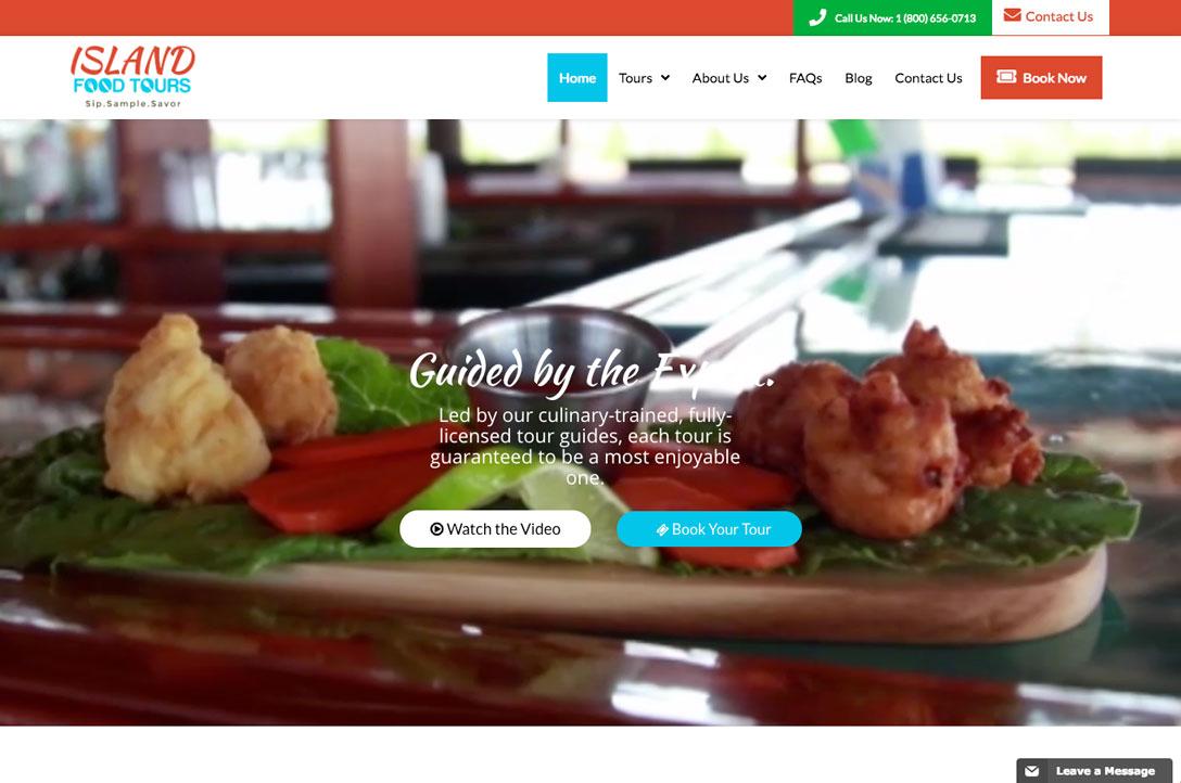 Island Food Tours Website